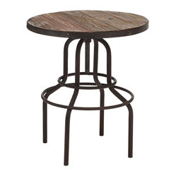 Zuo Twin Peaks Distressed Wood Bar Table