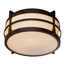 The Great Outdoors - The Great Outdoors 72029-A179-PL 1 Light Outdoor Flush Mount - The Great Outdoors 72029-A179-PL 1 Light Outdoor Flush Mount