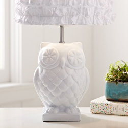 Owl Lamp Base - This lamp base would be great in an office. I think it would bring a little whimsy into rooms that can get a bit stuffy.