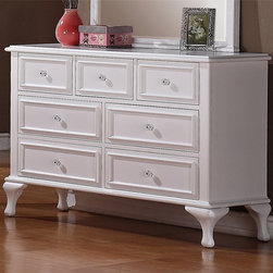 None - Jeslyn 7-drawer Dresser and Optional Mirror - Enhance your decor with this pretty seven-drawer dresser. The top three drawers feature a felt lining to protect your delicate items, and the other roomy drawers provide plenty of space for your other belongings. The crisp white finish is lovely.