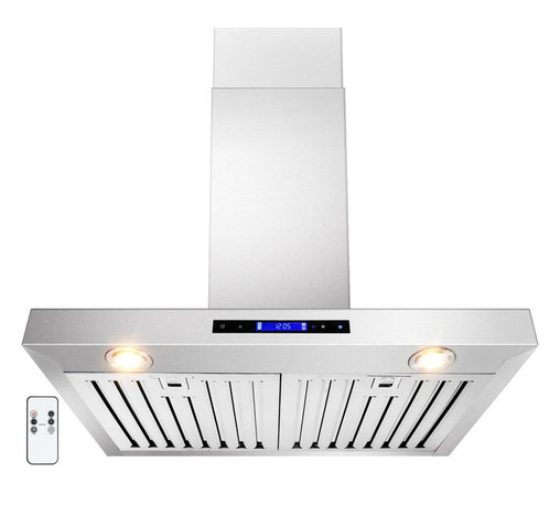 """AKDY - AKDY AG-ZZ01 Euro Stainless Steel Wall Mount Range Hood, 30"""", Duct/Pipe - The AKDY Z01 combines European design with tremendous value to meet the requirements of today's conventional appliance and kitchen styles. Its 760 CFM centrifugal blower and multispeed control provide quiet, effective performance. A fully enclosed bottom contains a dishwasher safe filter for easy cleaning. Plus, dual cooktop illumination.Optional recirculating kits are available."""