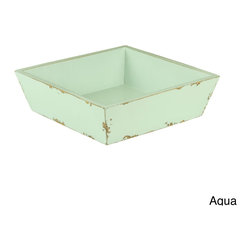 Antique Revival - Anjelik Tray - The Anjelik Tray is a shallow,square wooden tray that can easily be used for a variety of purposes. It looks great on a hall table as a place to set the daily mail or your keys.