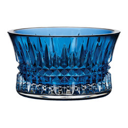"""Waterford - """"Lismore Diamond"""" Sapphire Nut Bowl - Waterford""""Lismore Diamond"""" Sapphire Nut BowlDetailsA radiant addition to a coffee table or home bar this petite nut bowl is dressed in the signature diamond cuts of Waterford's """"Lismore Diamond"""" pattern. Or use it to hold cufflinks pocket change earrings and the like on a desk or vanity.Made of sapphire-hued crystal.Hand wash.5""""Dia. x 2.75""""T.Imported.Designer About Waterford Crystal:Established in 1783 Waterford crystal is cherished around the world for its rich tradition of craftsmanship and artistry. Each piece from stemware to decorative items is still mouth blown and handcrafted by master artisans. A customary gift to royalty and heads of state a treasured heirloom for generations."""
