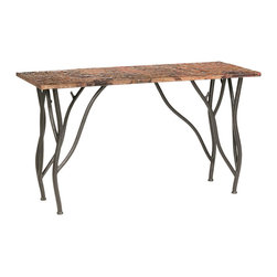 Rustic Woodland Console Table by Stone County Ironworks - Dimensions:
