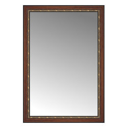 """Posters 2 Prints, LLC - 37"""" x 53"""" Malabar Walnut Custom Framed Mirror - 37"""" x 53"""" Custom Framed Mirror made by Posters 2 Prints. Standard glass with unrivaled selection of crafted mirror frames.  Protected with category II safety backing to keep glass fragments together should the mirror be accidentally broken.  Safe arrival guaranteed.  Made in the United States of America"""