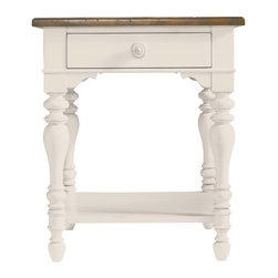 Stanley Furniture - Coastal Living Cottage-Lamp Table - Finish: Sand Dollar |One drawer, one stationary shelf, top has Boardwalk finish