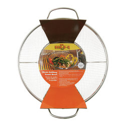 Mr. Bar-B-Q - Mr. BBQ Stainless Steel Mesh Grilling and Sautee Bowl - This Mr. BBQ Stainless Steel Mesh Grilling and Sautee Bowl is perfect for stir frying or searing vegetables. This stainless steel mesh saute bowl features two handles for easy on-off use.
