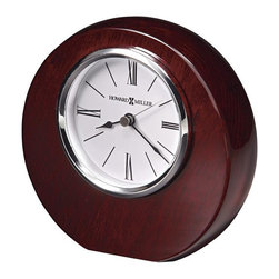 HOWARD MILLER - Adonis Table Clock - High-gloss, Rosewood Hall finished table top clock.