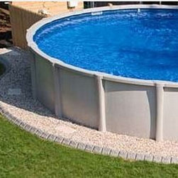 Traditional pool design ideas pictures remodel decor for Above ground pool border ideas