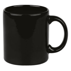 Waechtersbach - Set of 4 Mugs Fun Factory Black - Make mornings lively with these Fun Factory Black Mugs. Available in a variety of bold hues, these classic ceramic mugs with easy-grip handle are a must-have for hot beverages.