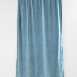 Textured Velvet Curtain, Blue - Sometimes simple is best, and the pretty blue would be a welcome addition to any room. It's soothing and cozy.