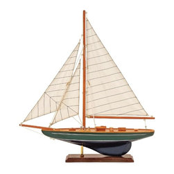 IMAX CORPORATION - Small Sailboat - Nautical accent wood sail boat on stand with canvas sails. Find home furnishings, decor, and accessories from Posh Urban Furnishings. Beautiful, stylish furniture and decor that will brighten your home instantly. Shop modern, traditional, vintage, and world designs.