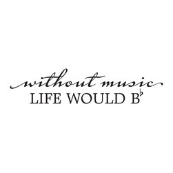 Wallquotes.com - Life Would Be Flat Inspirational Wall Quotes decal - Life would be flat without music.