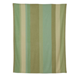 Emma at Home - Shangri La Baby Alpaca Throw Blanket - Shades of moss and sea green make for a mellow stripe that's just right to snuggle up under. If you're looking for adding accents in cool tones to a room, this would make the perfect addition.