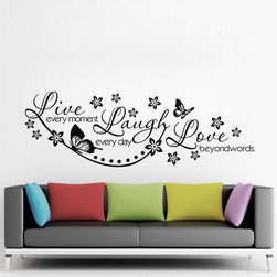 Bedroom Wall Saying Live Everymoment Laugh Everyday Love Beyond Words - Bedroom Wall Saying Live Everymoment Laugh Everyday Love Beyond Words