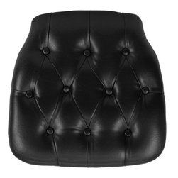 "Flash Furniture - Hard Black Tufted Vinyl Chiavari Chair Cushion - Hard cushions are the most popular choice in the Rental and Event industry offering firm support. Velcro strips underneath cushion secures cushion to the seat.; Black Chiavari Chair Cushion; Black Vinyl Upholstery; Tufted Design; Thick Foam Interior; Thick Foam Interior; Velcro Strips secure Cushion to seat; Cushion Designed for Resin, Wood and Crystal Chiavari Chairs; Width: 15.75"" x 11.5""; CA117 Fire Retardant Foam; Weight: 1 lbs; Overall Dimensions: 15.75""W x 15.75""D x 1.5""H"