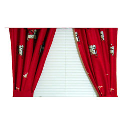 College Covers - NCAA Arkansas Razorbacks Drapes Collegiate Window Curtains - Features: