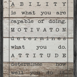 """Forest Creations - Ability is what you are capable of doing -  Art Print - Art print is framed with 2"""" wide, vintage style wood and printed on high quality Matte paper."""