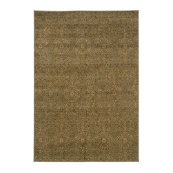 """Grandin Road - Fresco Indoor Area Rug - 1'10"""" x 3'3"""" - Subtle floral-patterned area rug in cool, neutral hues. Machine woven construction. Durable nylon/polypropylene. Extend the life of your rug with one of our indoor rug pads (sold separately). Refresh your room with a borderless area rug featuring a delicate floral medallion motif in a palette of neutral tones. With its highly durable construction, this rug will provide you with elegant comfort underfoot for years to come.. . . . Made in the USA."""