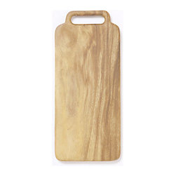 Bleached Acacia Cutting Board - Made from polished acacia wood, this small board is beautiful whether it's serving cheese or simply hanging on the wall.