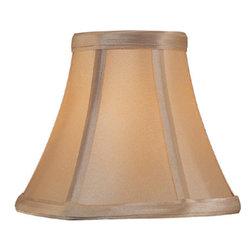 Lite Source - Candelabra Shade/Light Gold - 3in.Tx6in.Bx5in.Sl - Candelabra Shade/Light Gold - 3 in. Tx6 in. Bx5 in. Sl