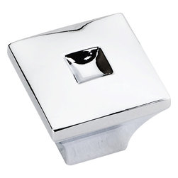 Jeffrey Alexander - 1 inch Diameter Zinc Die Cast Small Modern Cabinet Knob, Polished Chrome - 1 inch Diameter Zinc Die Cast Small Modern Cabinet Knob. Packaged with one 8/32 inch x 1 1/8 inch screw. U.S. Patent D580 733. Finish: Polished Chrome