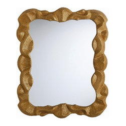 Arteriors Home - Arteriors Home Baroque Antiqued Gold Leaf Mirror - Arteriors Home DK9404 - Arteriors Home DK9404 - The carved shape and pattern is rooted in folk art but the finish is reminiscent of gilded items found in the cathedrals of Italy and Spain. Can be hung vertically or horizontally.Designer: Laura Kirar