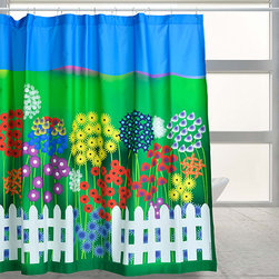 """Dream Garden - """"Dream Garden"""" lets you step into a fantasy land of flowers and blue sky. A nylon or other fabric liner is recommended."""