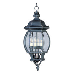 Maxim Lighting - Maxim Lighting 1039RP Crown Hill 4-Light Outdoor Pendants/Chandeliers - Crown Hill is a traditional, early American style collection from Maxim Lighting International, available in multiple finishes.