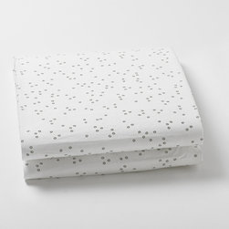 Little Auggie - Pebble Grey Fitted Crib Sheet - Fitted Crib Sheet in Pebble Grey