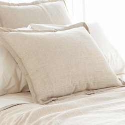 Pine Cone Hill - zen sham - Find inner peace with the naturally neutral zen coverlet, shams and bed skirt made from a texture-rich linen/cotton blend. ��This item comes in��beige.��This item size is��euro or std.