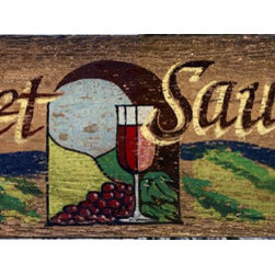 Red Horse Signs - Vintage Signs Wine Cabernet Nostalgic Vineyard Sign - Cabernet  Sauvignon  is  one  of  our  French  Country  vintage  signs  with  glorious  summer  colors  on  distressed  wood.  Printed  directly  to  weathered  wood  panels,  this  sign  measures  7x32  and  has  all  the  imperfections  of  authentic  antique  signs.  Please  allow  up  to  three  weeks  for  delivery.    Product  Specifications:        Vintage  Appeal    Finished  size:  7x32    Printed  directly  to  distressed  wood