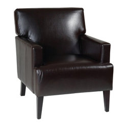 Office Star Carrington Arm Chair - Espresso