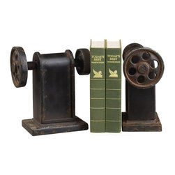 Sterling Industries - Industrial Book Press Book Ends - INDUSTRIAL BOOK PRESS BOOK ENDS