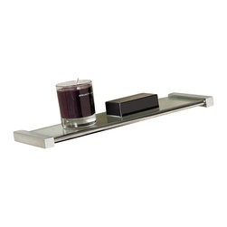 WS Bath Collections - Metric Shelf Wall Shelf in Polished Chrome (2 - Choose Size: 23.6 inchesMade in Spain. Product Material: Brass. Finish/Color: Polished Chrome. Dimensions: 5.1 in. D x 15.7 in. W x 5.1 in. H