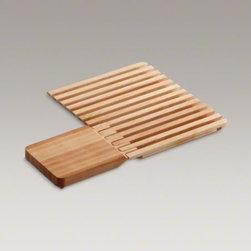 KOHLER - KOHLER Epicurean(TM) hardwood cutting board and drain board - This Epicurean cutting board and drainboard are designed to fit snugly over Epicurean sinks, creating a workstation for quick and easy tasks.