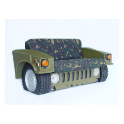 Hummer Sofa - Hum Vee Sofa in Army Camouflage -