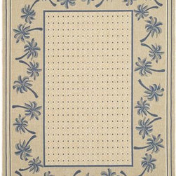 "Safavieh - Safavieh Courtyard CY5148F 7'10"" x 11' Ivory, Blue Rug - Safavieh's Courtyard collection was created for today's indoor/outdoor lifestyle. These beautiful but practical rugs take outdoor decorating to the next level with new designs in fashion-forward colors and patterns from classic to contemporary. Made in Turkey with enhanced polypropylene for extra durability, Courtyard rugs are pre-coordinated to work together in related spaces inside or outside the home."