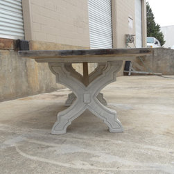 Carved Trestle Dining Table - Intricately Carved Trestle Dining Table