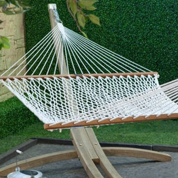 Island Bay Northshore Large Rope Hammock - Have you ever considered putting a hammock inside? Dressed up with pillows in the corner, it will be a cozy nook to read and relax in.
