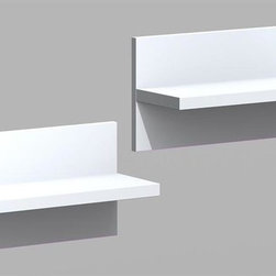 Nexera - Liber-T Wall Shelves in White Melamine Finish - Set of 2. Easy to install with key hole bracket system. 1 in. Thick shelves. Made of engineered wood. Assembly required. 19 in. W x 7 in. D x 10 in. H (12 lbs.)We all have different needs and preferences so why not have a collection that caters to what you want? Express your creativity with the brand new Liber-T collection from Nexera. Entertainment center, home office, storage and decoration. This collection does it all with its unique modular conception that lets you mix and match the different items, you're sure to find your own perfect configuration.
