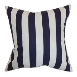 The Pillow Collection Ilaam Stripes Pillow - Wide stripes in your choice of color give The Pillow Collection Ilaam Stripes Pillow its nautical vibe. A stylish addition to any sofa, this decorative pillow gets attention. The cover is made of soft cotton, the feather and down blend fill is luxurious. Dry clean only.About The Pillow CollectionIdentical twin brothers Adam and Kyle started The Pillow Collection with a simple objective. They wanted to create an extensive selection of beautiful and affordable throw pillows. Their father is a renowned interior designer and they developed a deep appreciation of style from him. They hand select all fabrics to find the perfect cottons, linens, damasks, and silks in a variety of colors, patterns, and designs. Standard features include hidden full-length zippers and luxurious high polyester fiber or down blended inserts. At The Pillow Collection, they know that a throw pillow makes a room.