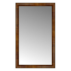 """Posters 2 Prints, LLC - 25"""" x 41"""" Belmont Light Brown Custom Framed Mirror - 25"""" x 41"""" Custom Framed Mirror made by Posters 2 Prints. Standard glass with unrivaled selection of crafted mirror frames.  Protected with category II safety backing to keep glass fragments together should the mirror be accidentally broken.  Safe arrival guaranteed.  Made in the United States of America"""
