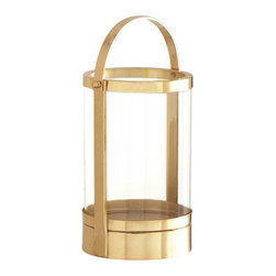 Canal Street Brass Candle Lantern - Polished Brass - Update your outdoor living area with the soft glow that will come from your Canal Street Brass Candle Lantern.