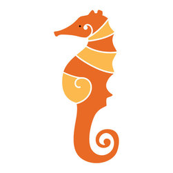 My Wonderful Walls - Seahorse Stencil for Painting - - 2-piece seahorse stencil