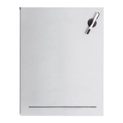 Blomus - Muro 19.75 in. Perforated Steel Magnet Board - Includes pen and eraser. Made of steel, Aluminum coated. 1-Year manufacturer's defect warranty. 19.75 in. L x 23.7 in. W