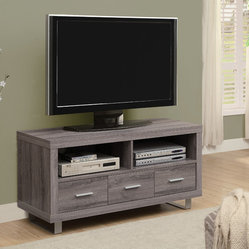 Monarch Specialties 3250 TV Console in Dark Taupe