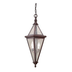 """Troy Lighting - Troy Lighting FCD8996 Geneva 2 Light Outdoor Pendant - *Metalwork: Hand-Worked Wrought IronGlassware: Clear Seeded (CD)2 - 60W Candelabra Base (Not Included)8""""W 28""""HChain Hung Fixtures come with 4 Feet of Chain and 10 Feet of Wire"""