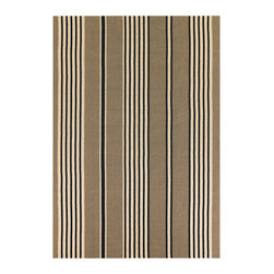 Couristan - Bar Harbor Bar Harbor Rug 0491/0098 - 5' x 8' - With their full array of colored stripes and casual-whimsical appeal, these area rugs have been designed to brighten the appearance of any setting in the home. Each area rug in the collection offers an abundance of colors, so mixing and matching accessories can be both simple and engaging. Have fun with your color choices and don't be afraid to step outside your typical decorating habits. Perfect for kitchens, dining areas and even kid's rooms, these area rugs will create the perfect casual setting with their soft surface pile and full flavor of color ranges.