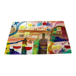 xmarc - Bar Area Rug, Wine Time - Wine time bar area rugs from my art.